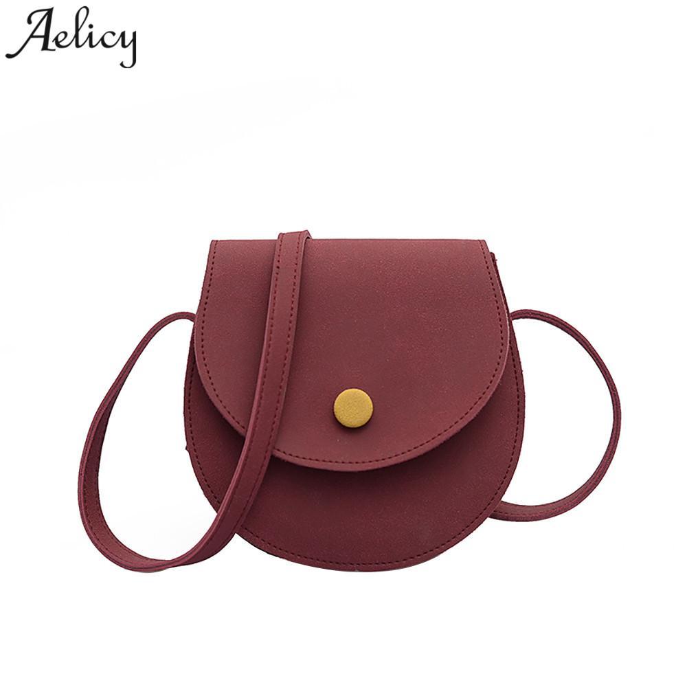 530b3ec1116 Aelicy Girls Handbag Scrub Saddle Semi Circle Shoulder Bag Trend Joker Crossbody  Bag For Women 2018 Bolsa Feminina Dropshipping Leather Purses Cheap ...