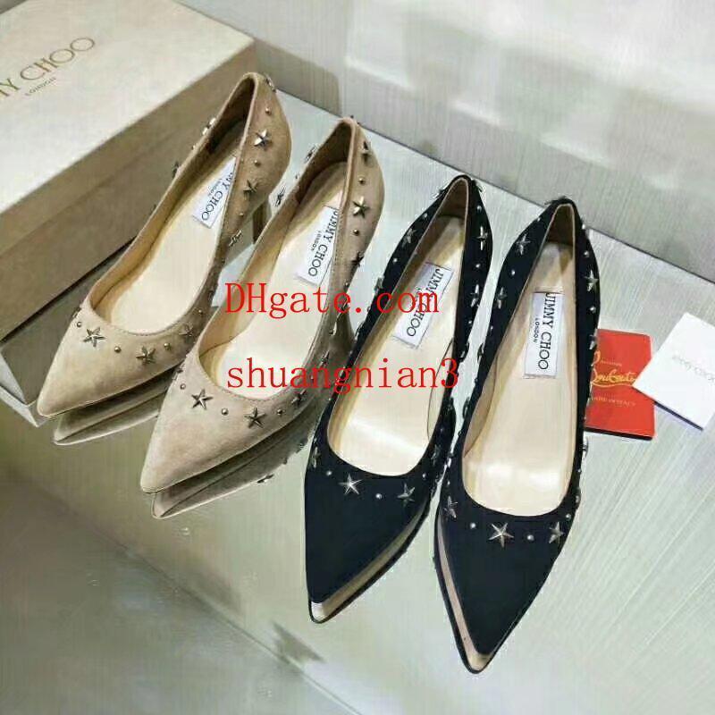 G mujeres tacones altos zapatos de vestir fiesta de moda chicas sexy punta estrecha zapatos hebilla plataforma bombas zapatos de boda off t1