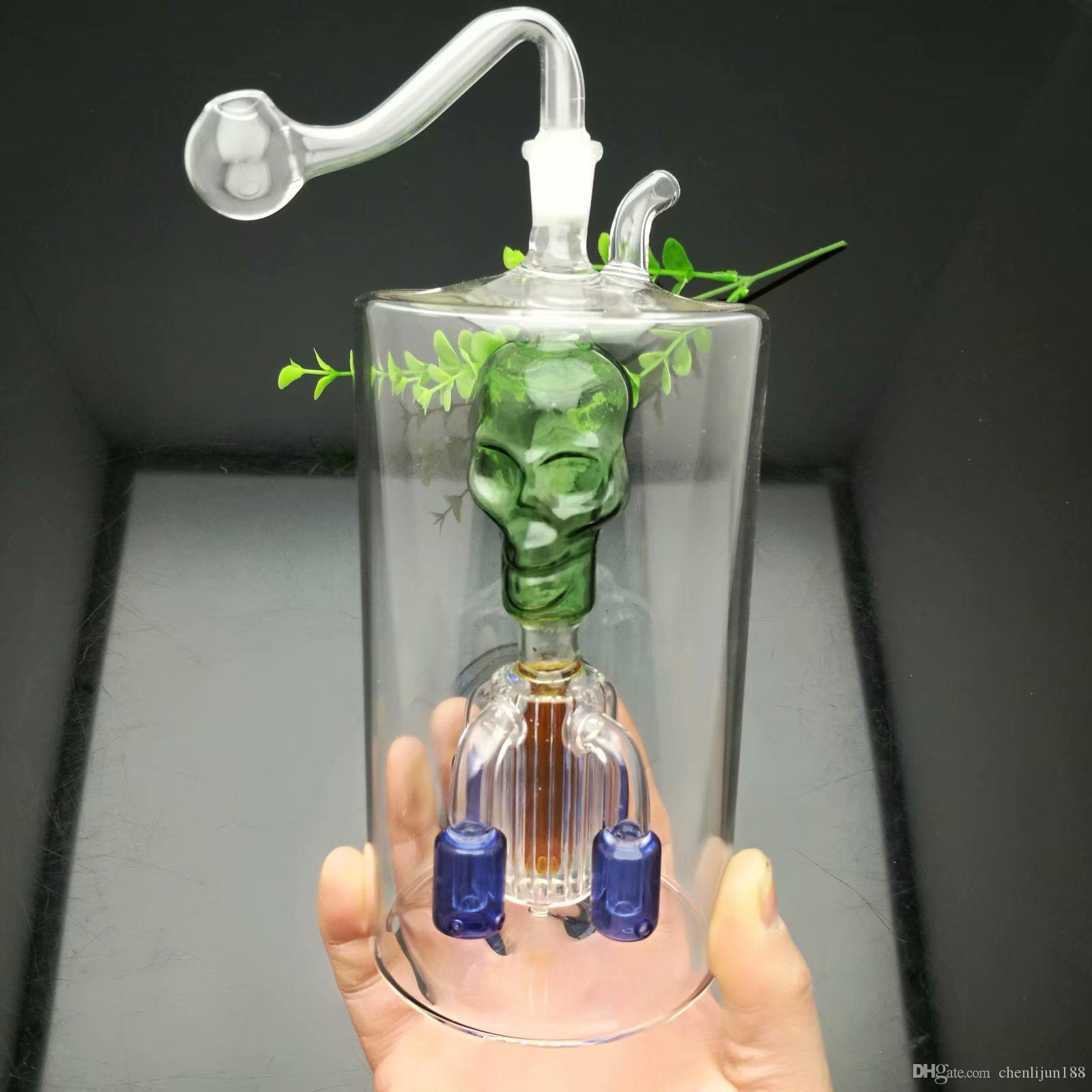 Four-claw filter kettle under super-large upper Skull Glass Bongs Glass Smoking Pipe Water Pipes Oil Rig Glass Bowls Oil Burner