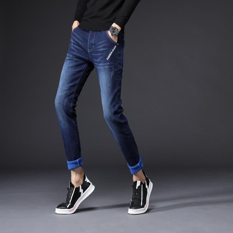e47678f0ac4 Compre Velo Dos Homens Novos Jeans Quentes Magros Calças Lápis Ocasionais  Skinny Clássico Moda Designer De Marca De Luxo Jeans Para Meninos Fit  Calças De ...