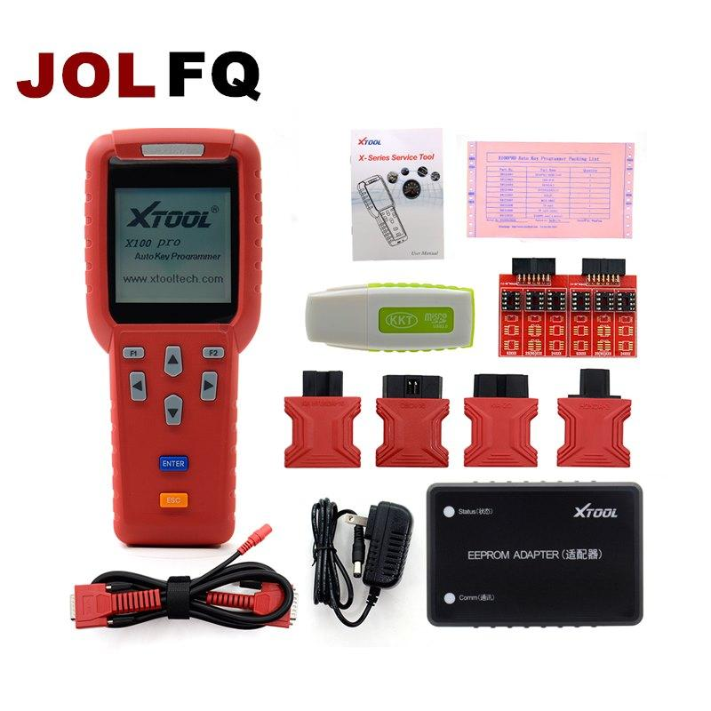 DHL Free shipping Original XTOOL X100 Pro Auto Key Programmer With EEPROM  Adapters support Odometer car key programming tool
