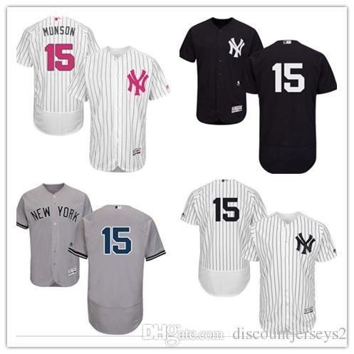 buy online f1cc1 4da1c 2019 can Yankees Jerseys #15 Thurman Munson Jerseys men#WOMEN#YOUTH#Men s  Baseball Jersey Majestic Stitched Professional sportswear