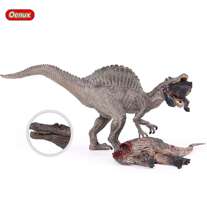 enux Jurassic Savage Long Spinosaurus Classic T Rex Dinosaur Corpse Mouth Can Open Action Figures Figurine Model Collection Toy Oenux Jur...