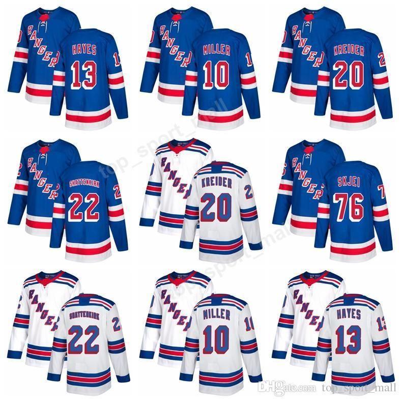 7e867e7ce01 2019 New York Rangers Jerseys Ice Hockey Custom 20 Chris Kreider 22 Kevin  Shattenkirk 10 J.T. Miller 13 Kevin Hayes 40 Michael Grabner From  James_01_shop, ...