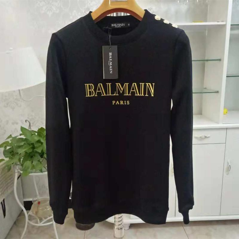 Balmain Hoodies Mens Designer Hoodie Street Hip Hop Cotton High Quality Loose Fit Womens Luxury Hoodie Sweatshirt