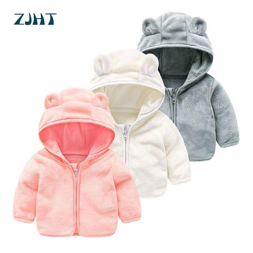 f5c33277b ZJHT Spring Softshell Fleece Jacket For Boys Girls Clothes Children Cute  Hooded Outerwear Baby Warm Windbreaker Kids Coats MY011 Boys Parka Jackets  Best ...