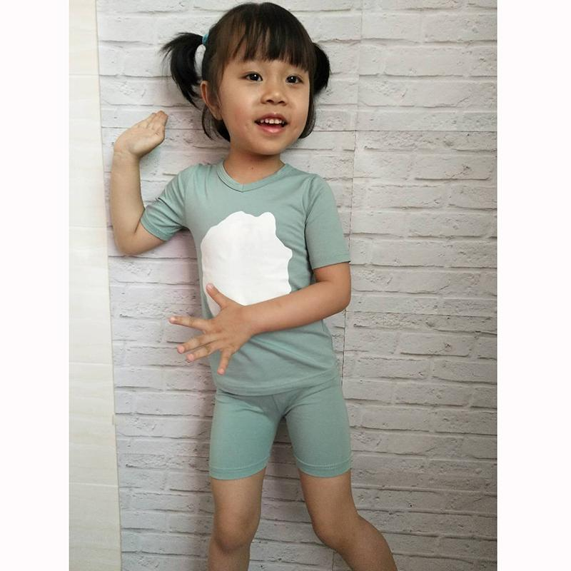 72303b4f1080c Hitomagic Girls Clothing Sets Summer New Hot Sale Baby Kids Boys Clothes  With Pants Shorts Cotton Soft Cute White Circle Q190523
