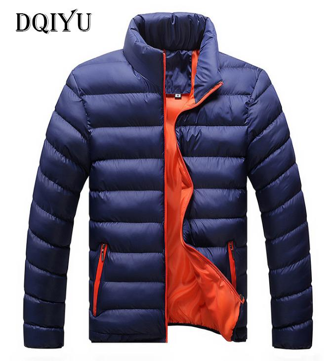 DQIYU Casual Ultralight Jacket Men Autumn & Winter Stand Collar Slim Fashion Parkas Jackets Men Waterproof Overcoat 5XL