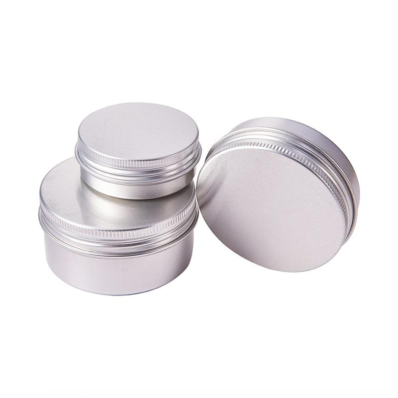 100PCS 30g 50g 60g Aluminum Jar with Screw Cap Makeup Face Mask Eyeshadow Cream Lotion Shampoo Soap Glitter Powder Travel Pot Box