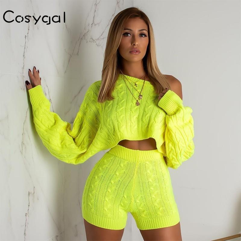 6446369a9b5 2019 COSYGAL 2018 Solid Knitted Sexy Jumpsuit Women Romper Full ...