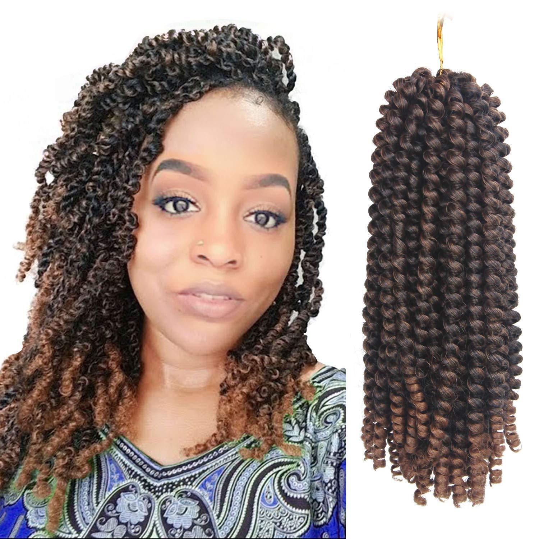 2019 Afro Spring Twist Crochet Braids 3 Pack Bomb Twist Crochet Hair