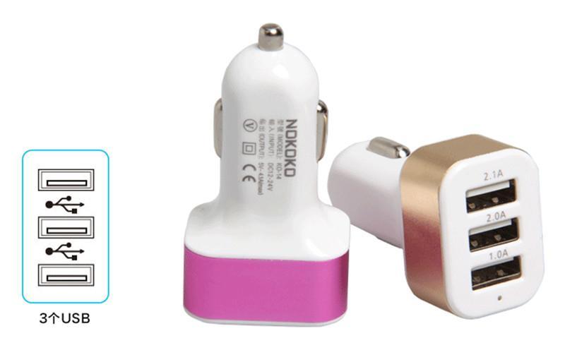 168 새로운 유니버설 트리플 USB 자동차 충전기 어댑터 USB 소켓 3 모든 모바일 스마트 폰 스마트 폰 태블릿 PC에 대 한 포트 자동차 충전기