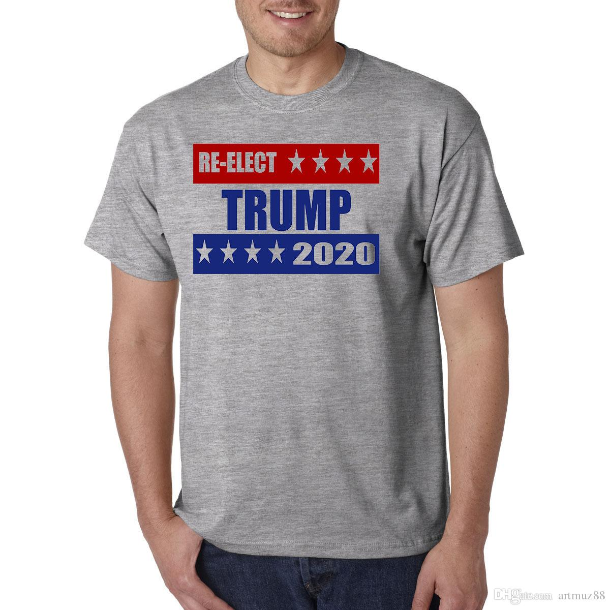 4fd13a75e Re Elect Donald Trump For President 2020 T Shirt Make America Great Again USA  Awesome T Shirts Cotton Shirts From Artmuz88, $10.76| DHgate.Com