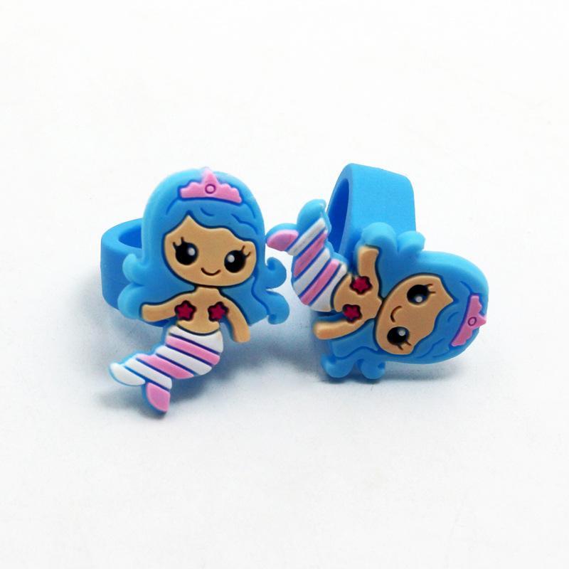 sereia suave cola anel kids toy party decorações decorações de festa de aniversário crianças sereia partido baby shower decoração. Q