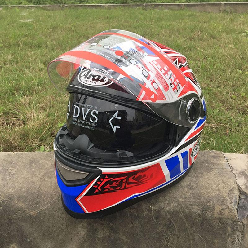 Full Face Dual visor Motorcycle Helmet A1 Man Riding Car motocross racing  motorbike helmet Four Seasons