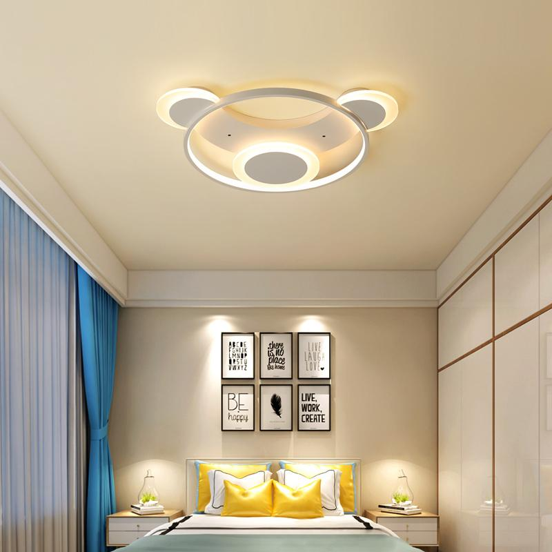 Simple modern bedroom led ceiling lights square personalized study  atmospheric master bedroom room ceiling lamp AC85-265V