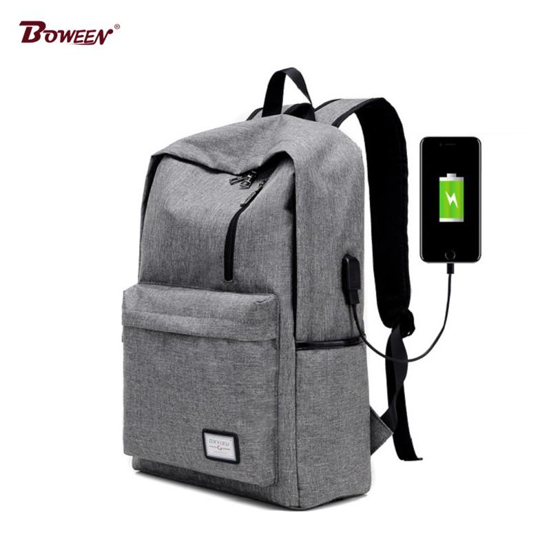245f261dfebe USB Charging Teens Boys School Bags for Teenagers Backpacks Canvas ...