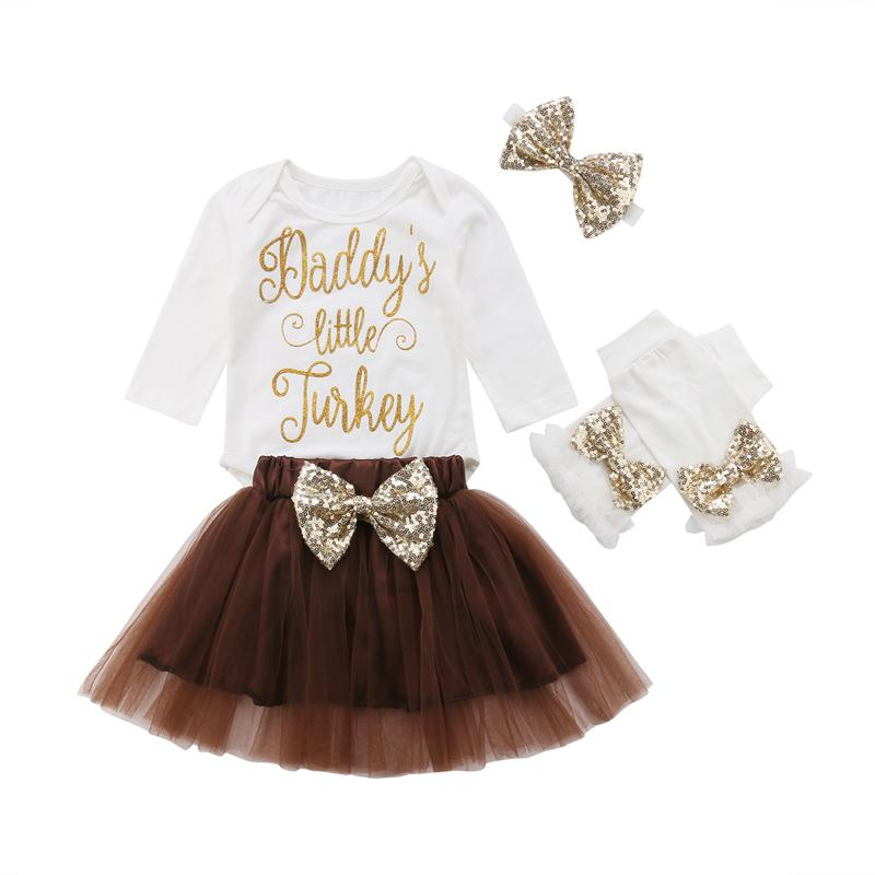 1cd33fc6e 2019 FOCUSNORM Set Baby Girl Clothes Set Long Sleeve Romper 1st Thanksgiving  Tutu Skirts Outfits Clothes Y18120303 From Shenping01, $26.3 | DHgate.Com