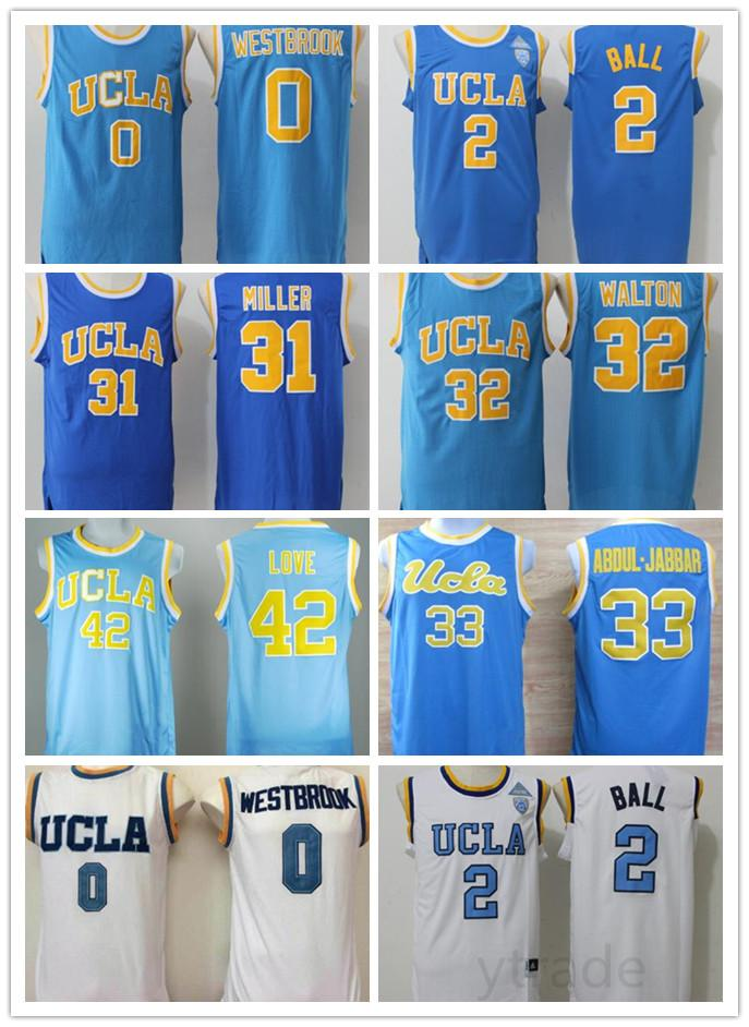 best loved 85e62 a917e UCLA Bruins College Basketball Jersey Russell Westbrook Lonzo Ball Zach  LaVine Kareem Abdul Jabbar Reggie Miller Bill Walton Kevin Love Blue