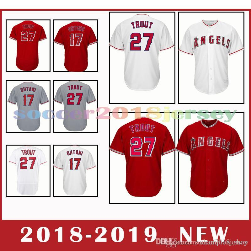 ca0f2a3a0 Los Angeles Angels 27 Mike Troutpopular 17 Shohei Ohtani Men's ...