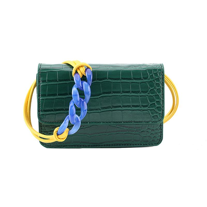 Stone pattern Flip Small Square bag 2019 Summer New Quality PU Leather Women's Designer Handbag Vintage Shoulder Crossbody Bag