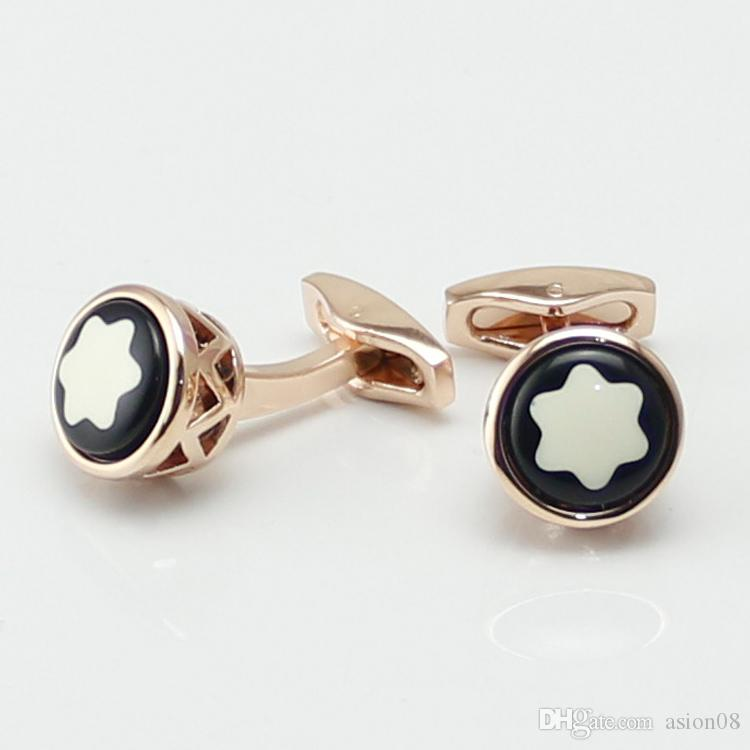 fb74808a1b5 2019 Hollow Out Style Accessories Luxury Cufflinks Man Shirt MB Cuff Links