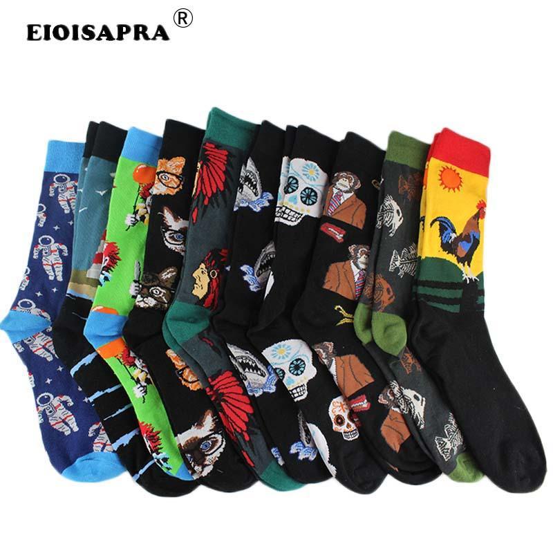 combed Cotton Fashion Hip Hop Men Socks Trend Harajuku Marvel Clown Chicken Skateboard Happy Socks Funny Sokken Buy One Give One Underwear & Sleepwears eioisapra