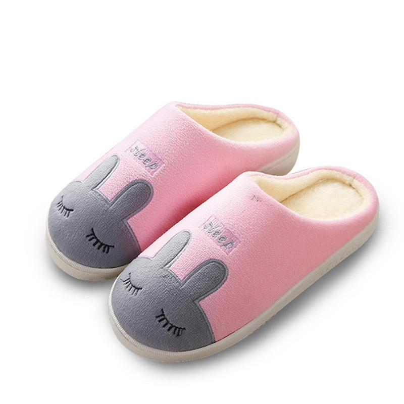 63b98b4ca53c Women Winter Warm Home Slippers Cartoon Non Slip House Shoes Indoor Floor  Bedroom Plush House Shoes Mens Slippers Boots For Women From Leafie