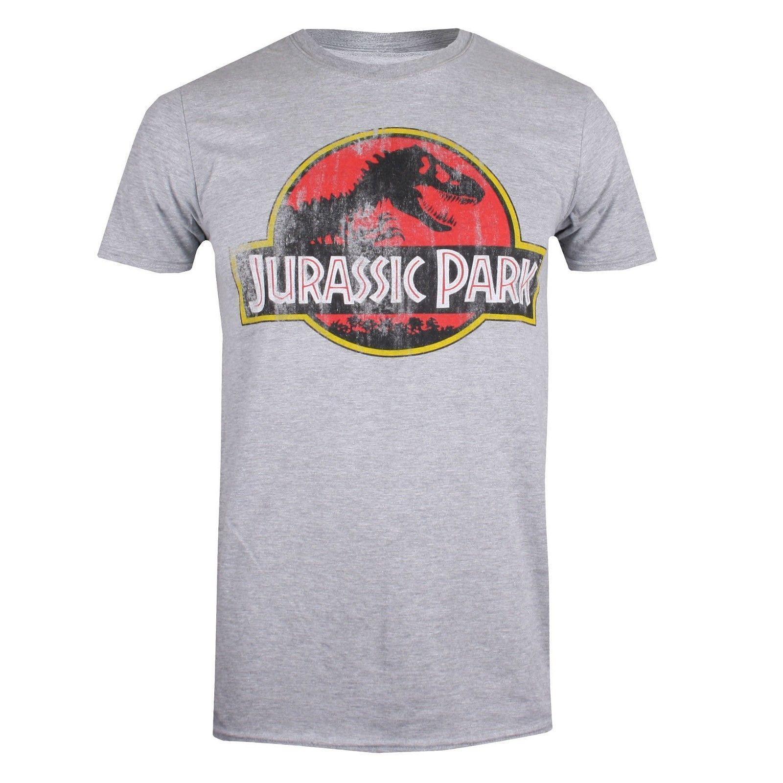 Grosshandel Jurassic Park Herren T Shirt Klassischer Logo Druck