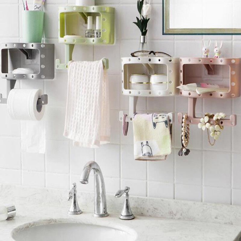 Brand New Plastic Bathroom Toilet Phone Paper Holder with Shelf Bathroom Tool Tissue Mobile Phones Towel Rack Toilet Roll