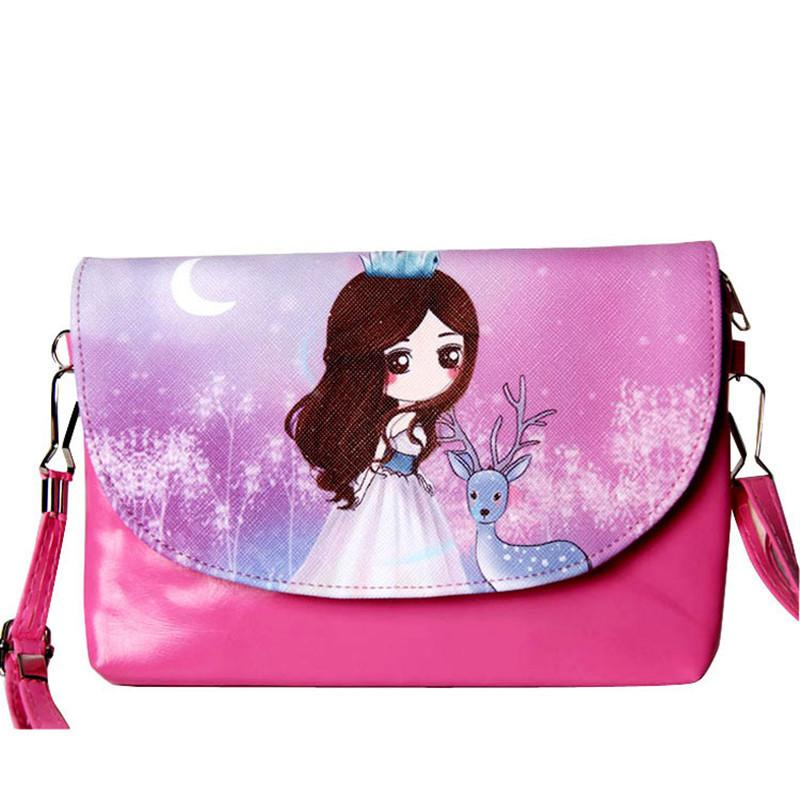 bd0d597f927f Cheap 2018 High Quality Leather Crossbody Bag Ladies Colorful Small  Shoulder Flap Bag Girls Casual Cartoon Cute Print Children Bag Mens Leather  Bags Laptop ...