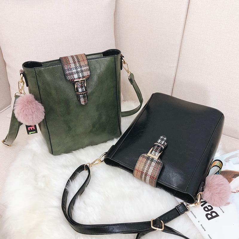 Winter New Pu Leather Handbag Hign Capacity Crossbody Bag Vintage ... 33fa62e85e8af