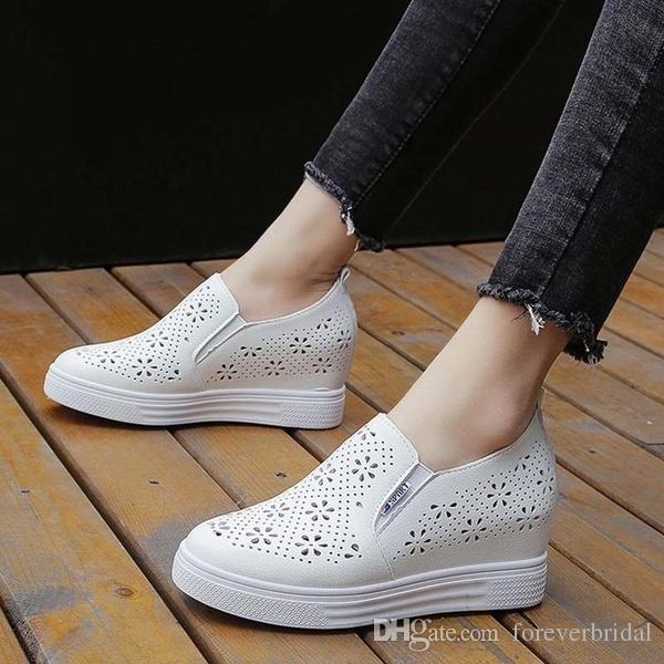 Zapatos De Zapatillas Al Mocasines Moda Corrientes Blanco Plataforma Aire Respirables Deporte Nueva Sandalias Casual Libre Juvenil Mujer 1lcFKJ