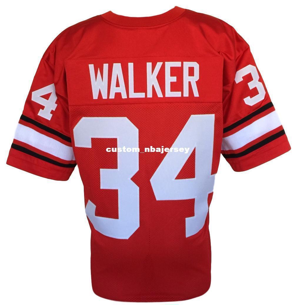 Cheap Custom Herschel Walker Red College Style Football Jersey ... 3549b4a60