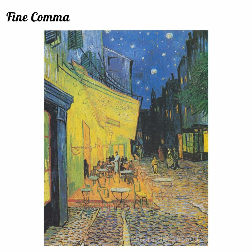 Van Gogh Bedroom Painting   Cafe Terrace At Night By Vincent Van Gogh Hand Painted Oil Painting Reproduction Replica Copy Wall Art Canvas Painting Bedroom
