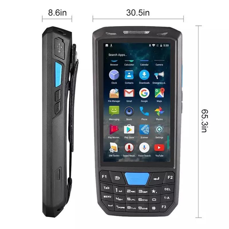 PDA Handheld Wirelress Barcode Scanner Bluetooth 1D / 2D PDF417 QR códigos  de Barras para IOS Android 7 0