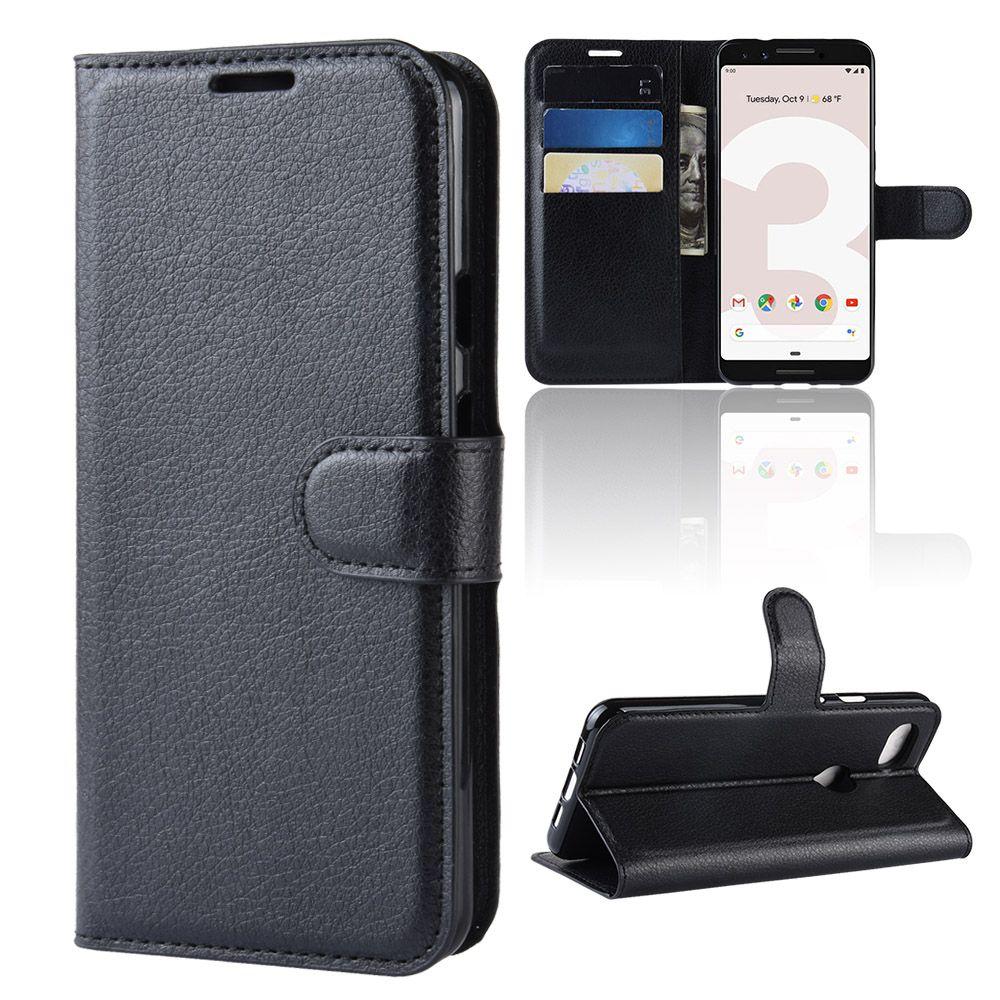 hot sale online 39d9d 7d82d For Google pixel 3 XL lite litchi lychee wallet leather PU TPU phone cover  Case card holder For Google pixel 3