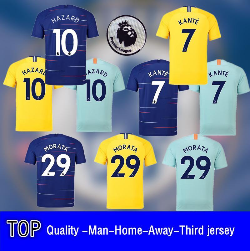 premium selection b7a7d 791ea Premier League 18/19 Soccer Jersey Thailand Top Quality 7#KANTE 10#HAZARD  22#WILLIAN Football Shirt
