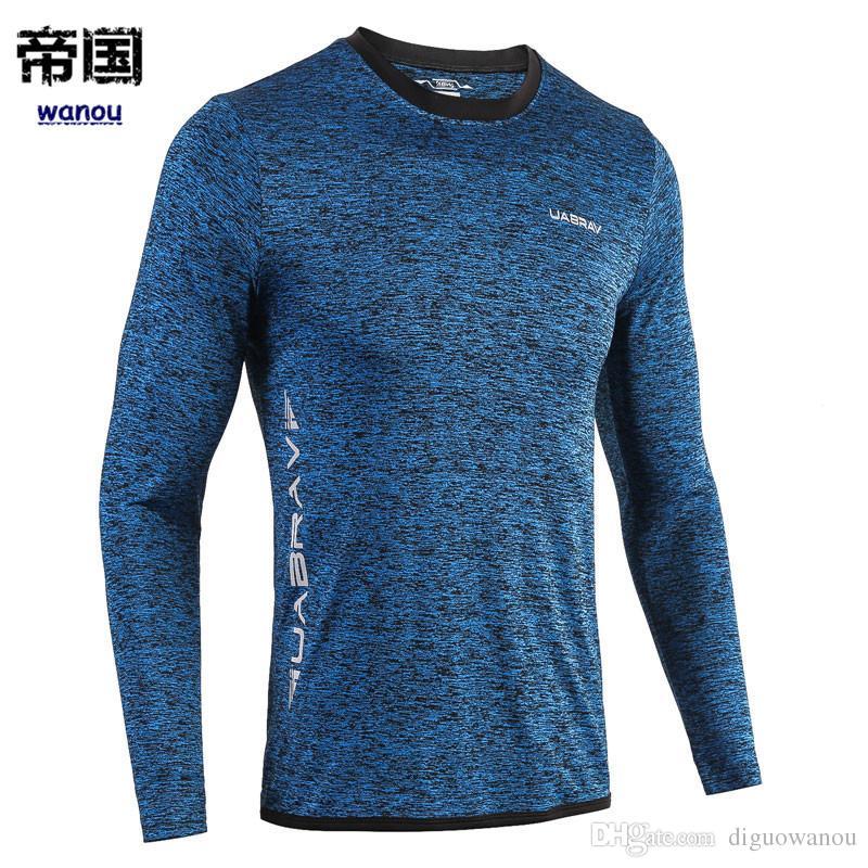 102e9bb8790 NEW Long Sleeve Men Running T-shirts Men Quick Dry Sport Shirt Snake ...