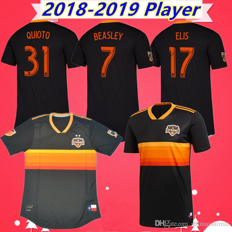 best website 77648 e632e Player version Thailand quality 2018 2019 MLS FC Houston Dynamo soccer  Jersey Football kit Shirt 18 19 BEASLEY MANOTAS ELIS QUIOTO MARTINEZ