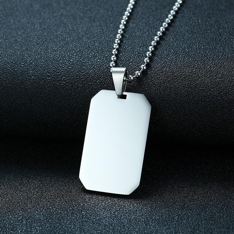 c2c8eaf6b976 Ilitary Dog Tags Colgante Acero Inoxidable Hombres Mujeres Collar En Plata  Color Ejército Memoria Joyas Military Dog Tags Colgante Stainlesss S ...