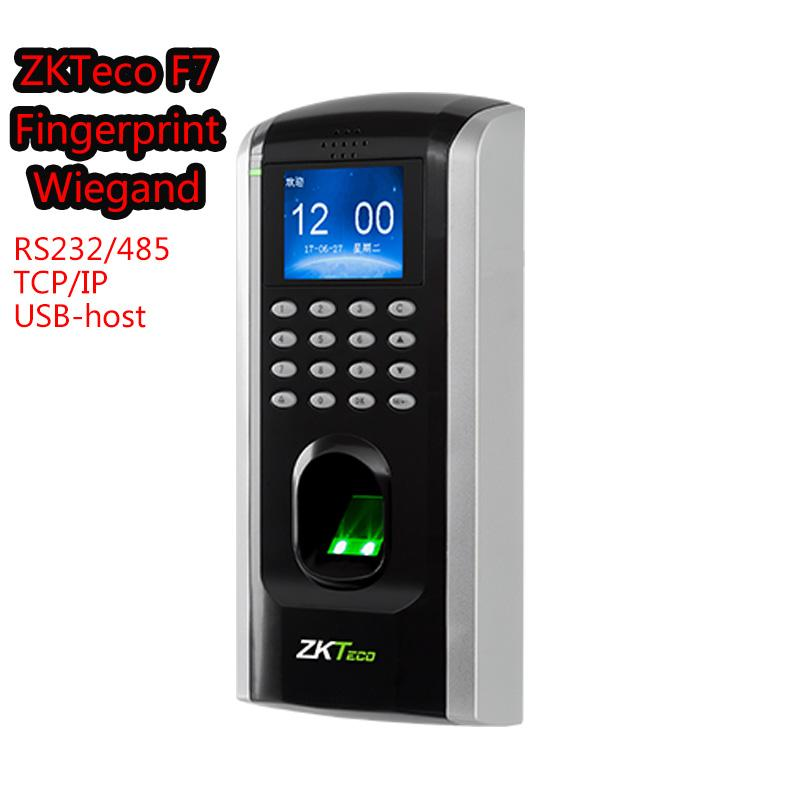 ZKTeco F7Plus Access Control system Biometric Fingerprint Device ZK Finger  V9 0 RS232/485 Anti-Passback Built-in Wiegand Output