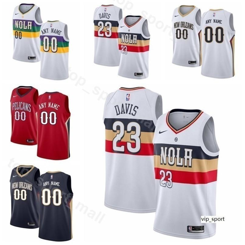 sale retailer 48cfd 966fa Print Men Youth Women Basketball Pelican Anthony Davis Jersey New Orleans  Jrue Holiday Julius Randle E Twaun Moore Elfrid Payton Shirts
