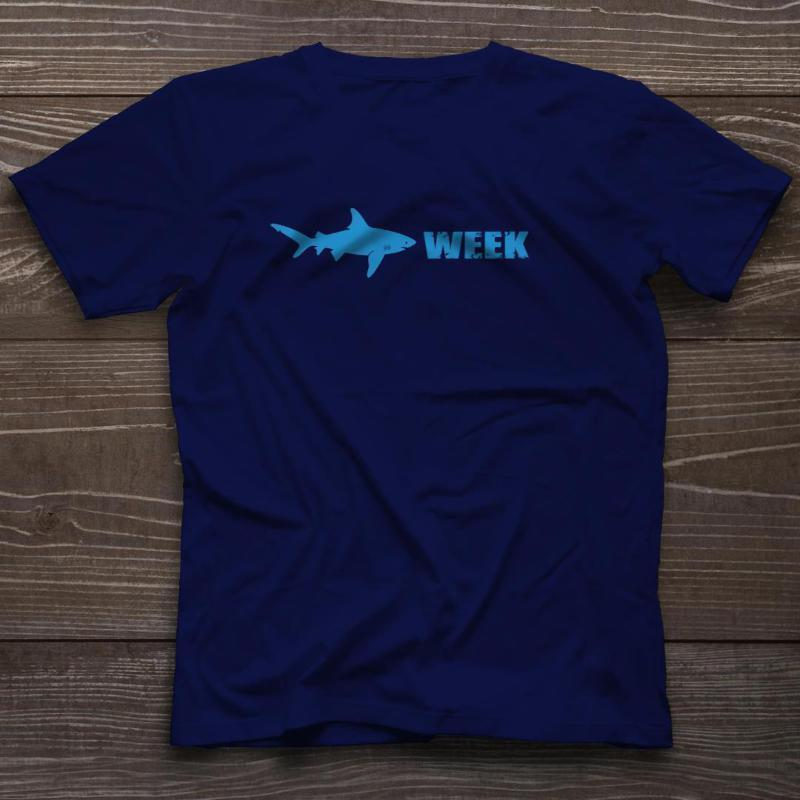 Shark Week T-Shirt Funny Cable TV Discovery Channel New Tee Funny free  shipping Unisex Casual tshirt