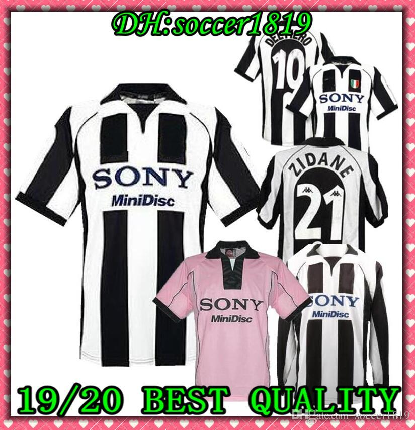 official photos 3bd60 1eadc New top 97/98 Juventus White Retro soccer jersey 1998 champion league  Juventus Vintage soccer jerseys football shirt