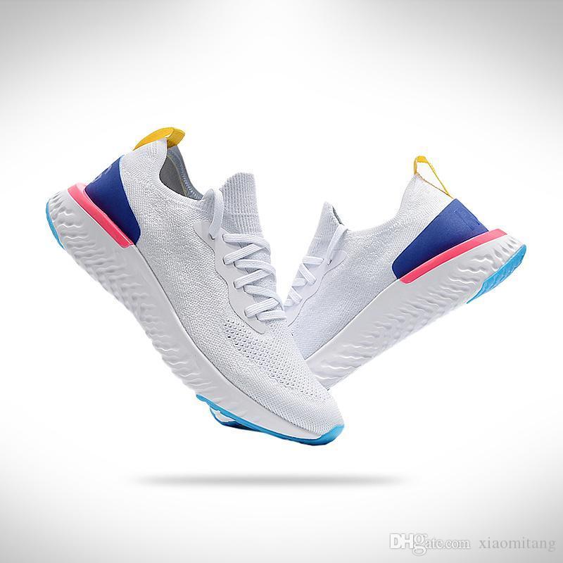 hot sale online 8f770 2cfca Compre Nike Epic React Flyknit 2018 Épica Reaccionan Baratos Nuevos Zapatos  Casuales RN Flyline 5.0 Hombres Mujeres Zapatillas De Deporte De Alta  Calidad ...