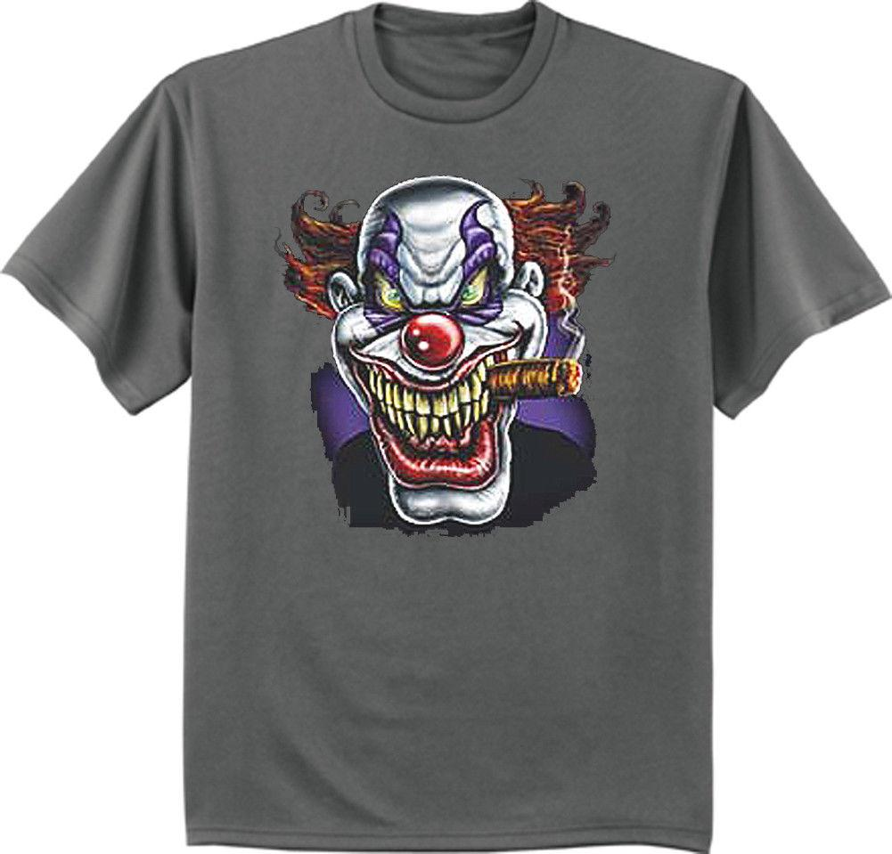Big And Tall T Shirt Bigmen Tee Evil Killer Scary Clown Decal King
