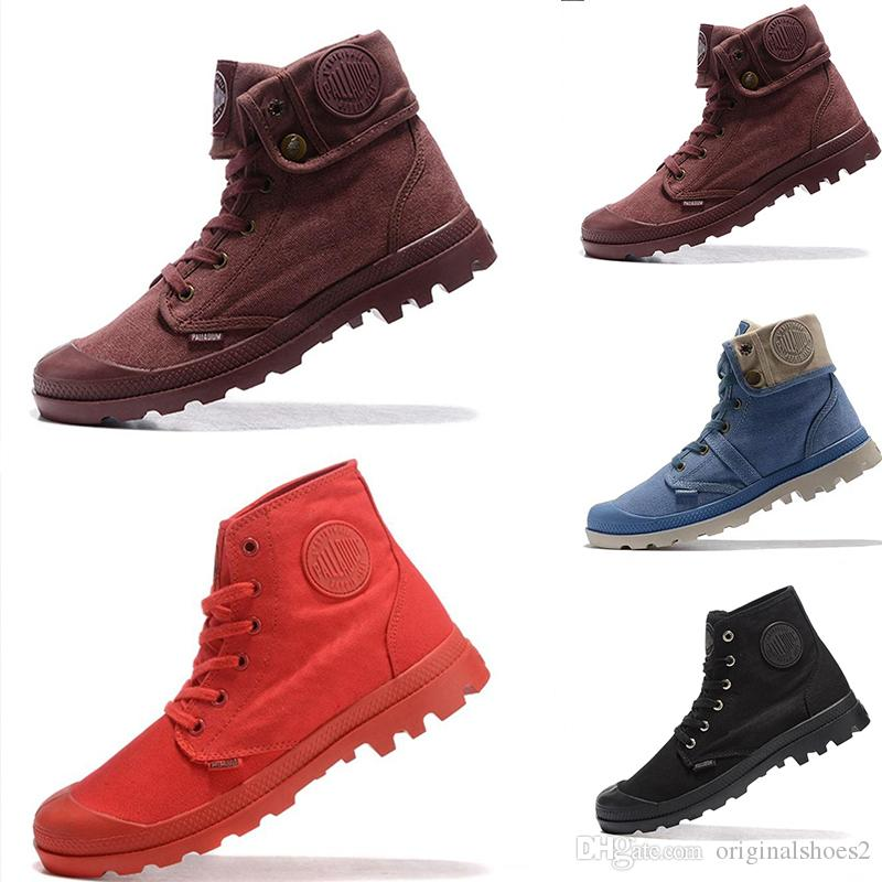 bd12e017d 2019 Fashion Men Women Outdoor Canvas Boots Classic Round-headed Martin  Boots Blue Brown Desert Antiskid Hiking Ankle shoes