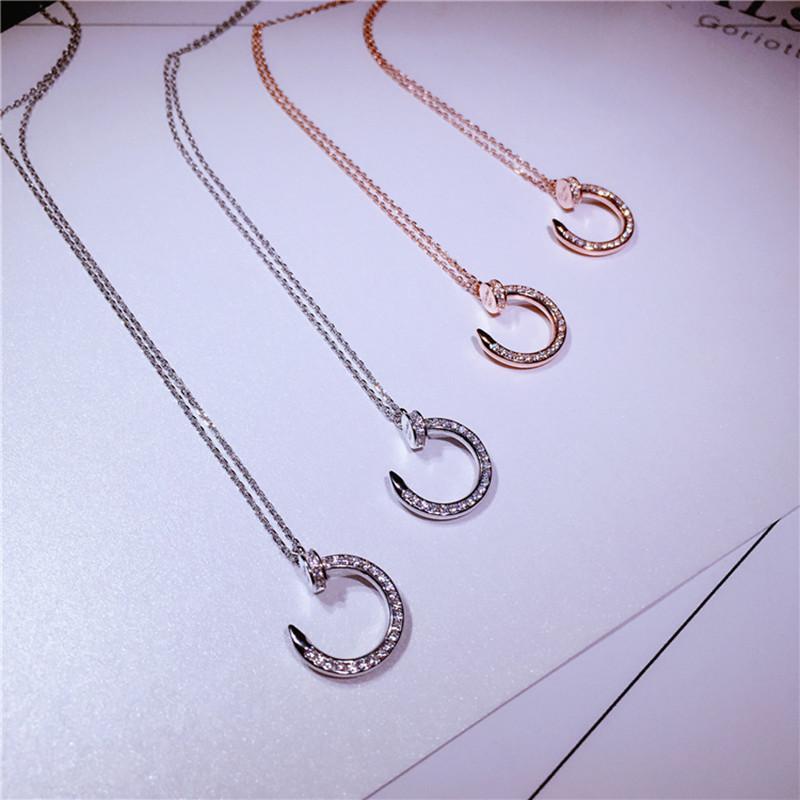 1799b1e1be971 Cartier S925 silver A11 pendant necklace micro-encrusted diamonds clavicle  chain jewelry female box
