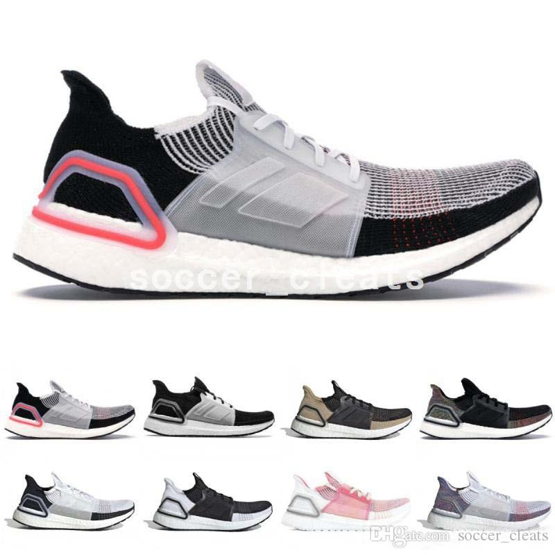 huge discount 27c87 ebb4f Cheap Ultra Boosts 5.0 2019 Running Shoes Ultraboosts 19 Oreo White Black  Active Red True Pink Women Mens Trainers Dark Pixel Sneakers